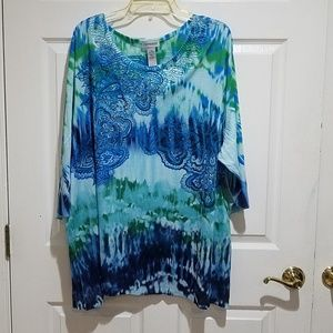 NWT Tie Dye with Sparkles Tunic
